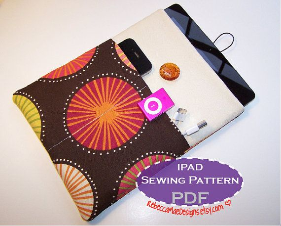 IPad Sleeve PDF SEWING PATTERN - diy pattern for ipad or tablet ...