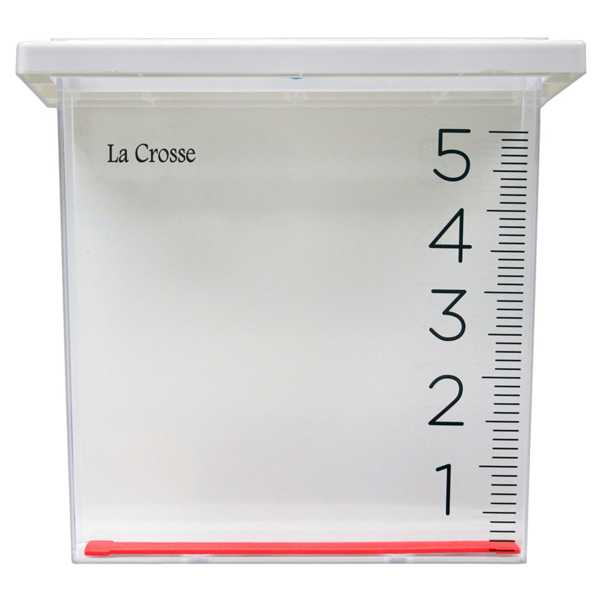 La Crosse Waterfall Rain Gauge Clear Rain gauge, Rain