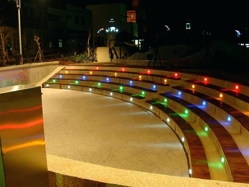 Ground Lights Outdoor Inspiration Ideas Step Lighting Led And Color Changing In Landscaping