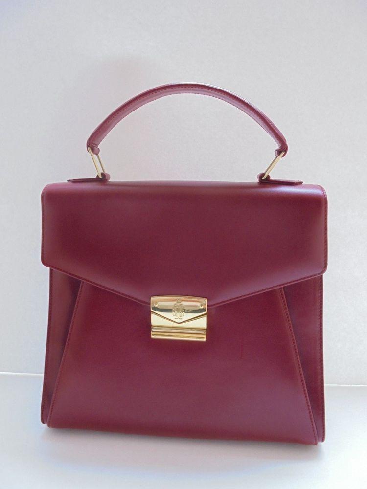 Mark Cross Vintage Red Leather Handbag Shoulder Bag Purse Made In Italy Red Leather Handbags Shoulder Bag Canvas Shoulder Bag