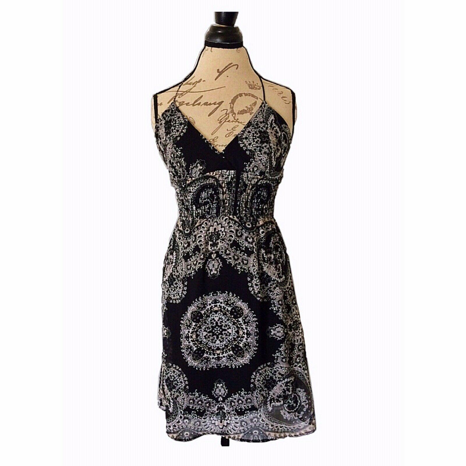 Love Tease Dress Size 5 Halter Sundress Black White Stretch Sheer Short Womens Sundress Shop For Sundress For Ideas Halter Sundress Sundress Sheer Shorts [ 1600 x 1600 Pixel ]