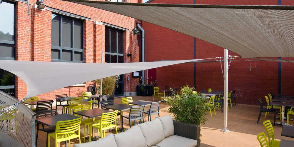Voiles D 39 Ombrage Ajour Es Terrasse Restaurant Voile D 39 Ombage Tout Temps Pinterest