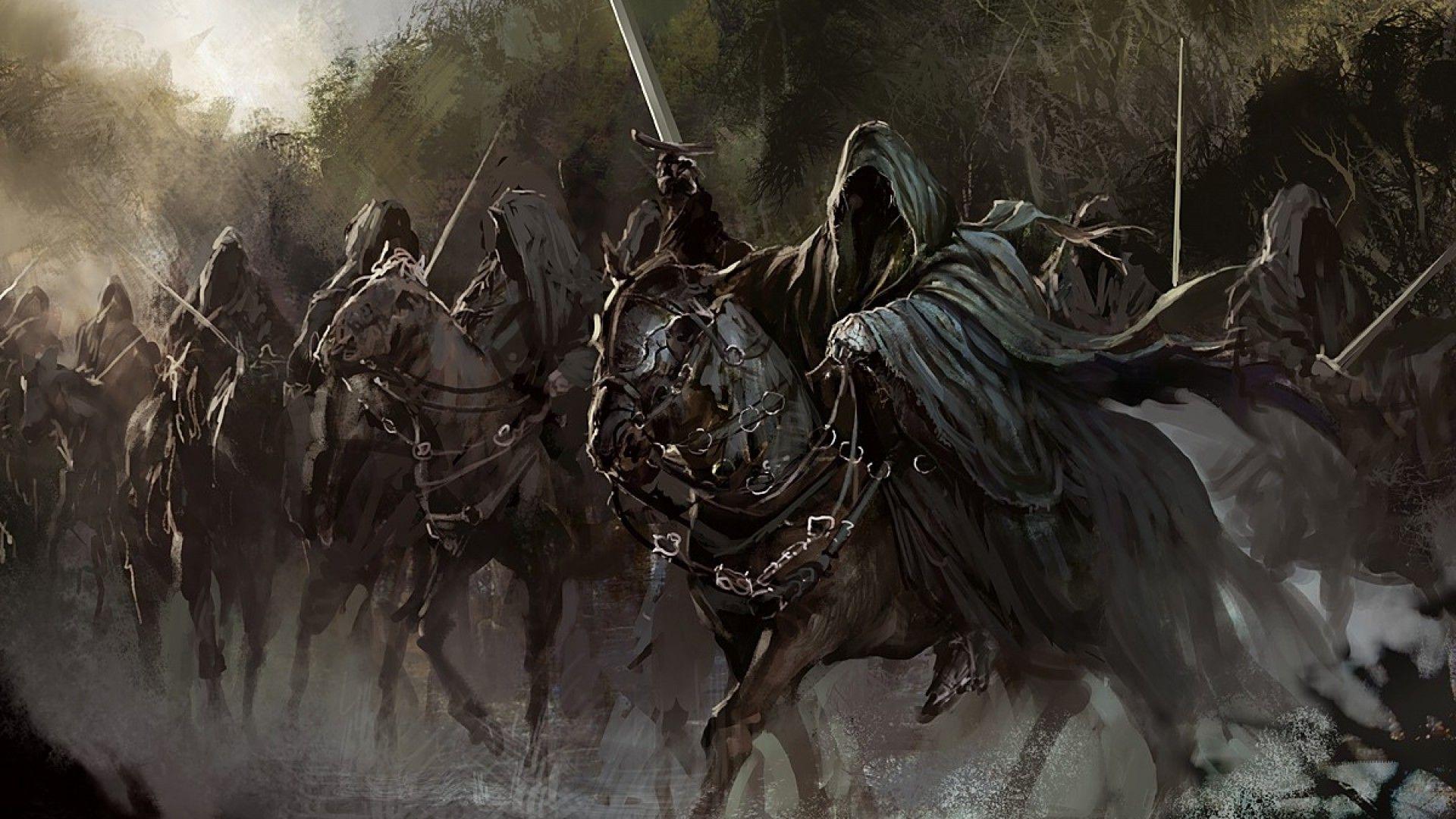 Nazgul ~ Black Rider ~ Ringwraith Art   Tolkien   Lord of ...