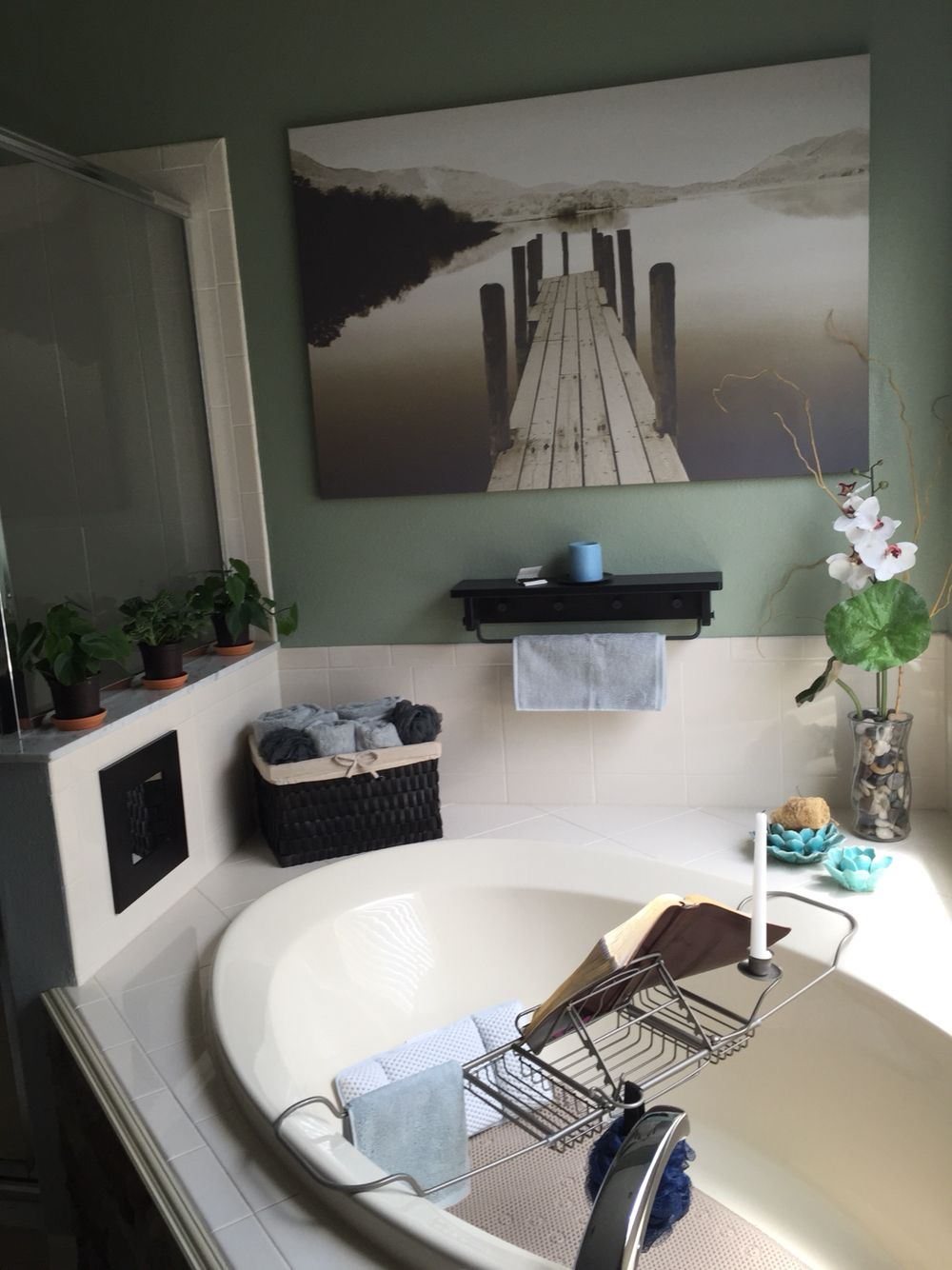 Pic is from Ikea ~$40, awesome over the tub caddy is BB&B ...