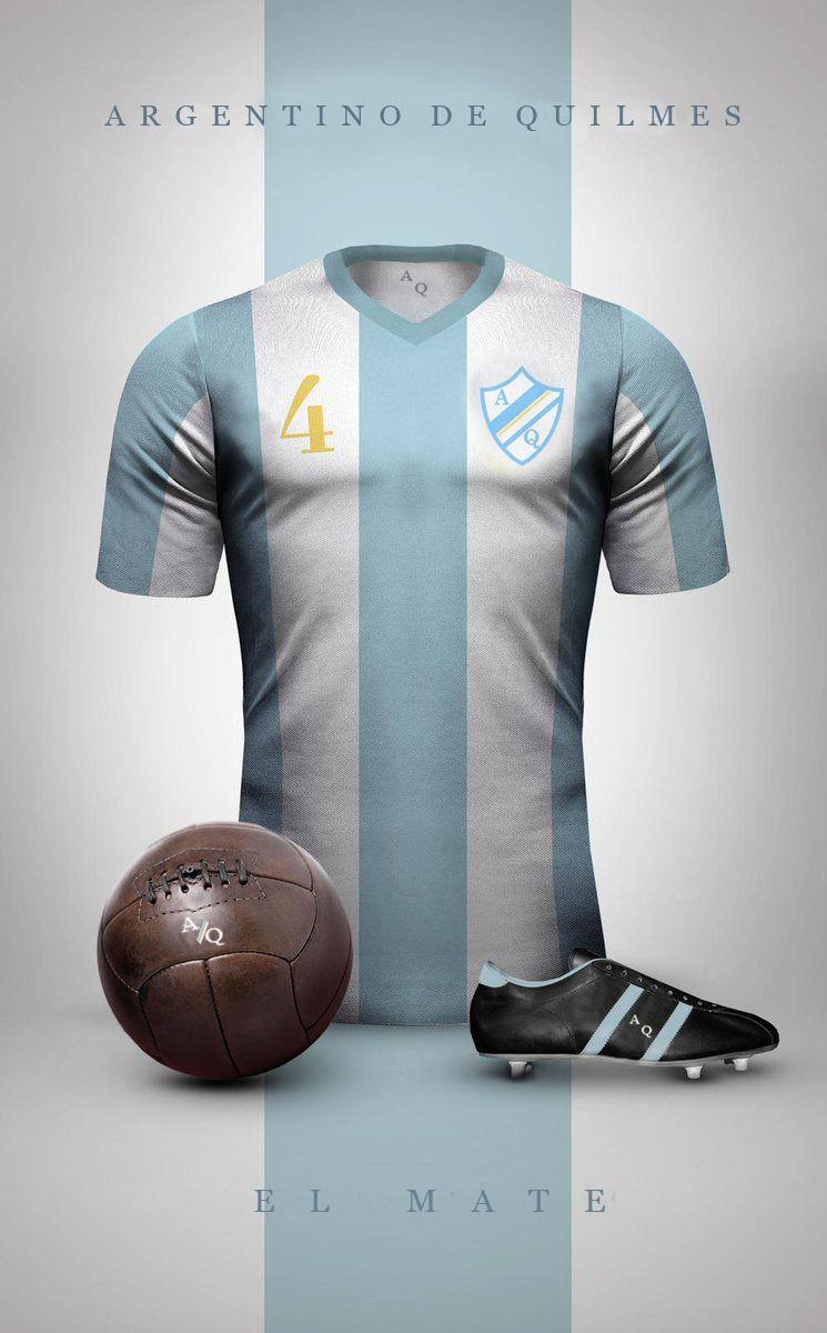 Argentino De Quilmes El Mate Camisetas Retro Camisetas De Equipo Camisetas De Fútbol