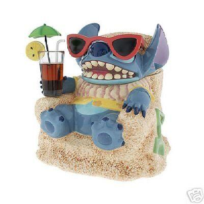 Disney Cookie Jars Amazon Com >> Amazon Com Disney S Stitch At The Beach Le Of 350 Cookie Jar New