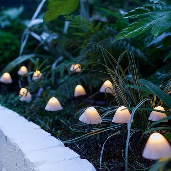 12 Mini Mushroom Solar Stake Lights Solar Lights Garden Solar Light Crafts Fairy Lights Garden