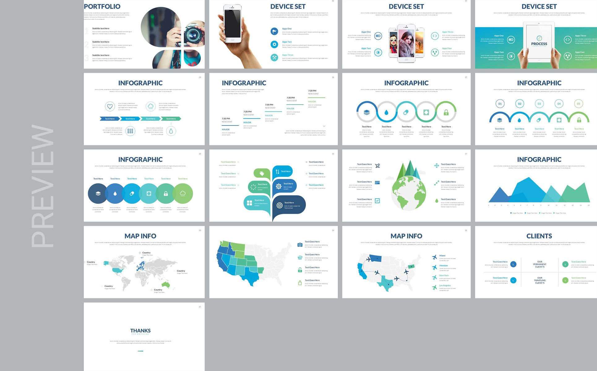 Process Multipurpose PowerPoint Template 74686 (With