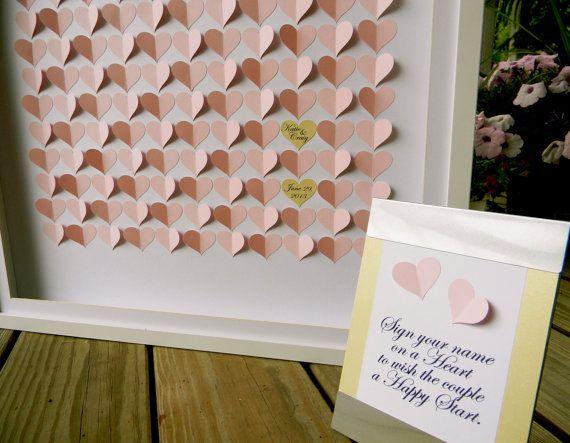 Alternative Wedding Guest Book 3d Hearts by JewelsbyJessKramer, $169.00