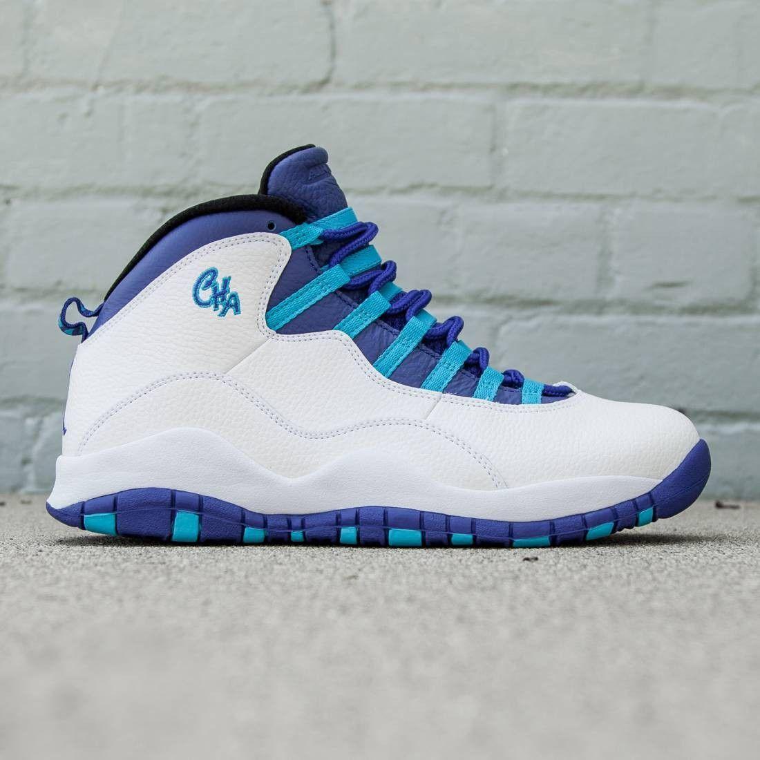 c8641d988e4 Jordan Men Air Jordan Retro X Charlotte (white / concord-blue lagoon-black)