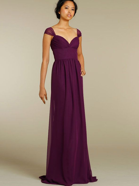 violet cap sleeves off the shoulder spring bridesmaid dress 2012 ...