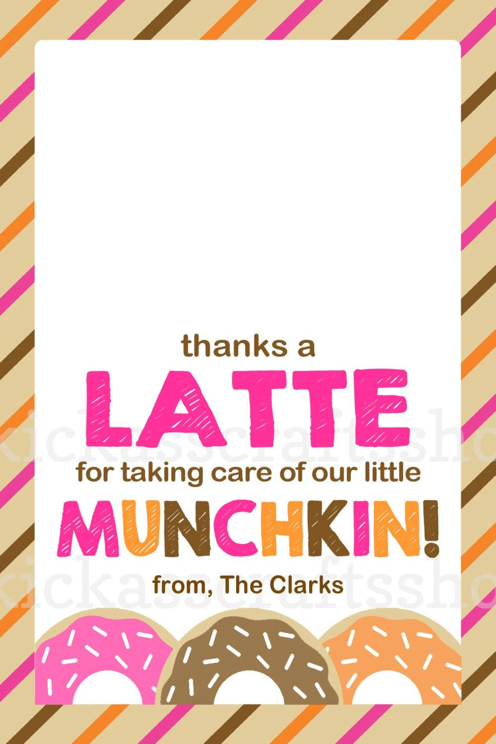 Printable Dunkin Donuts-Inspired Thanks a Latte Teacher Gift Card ...