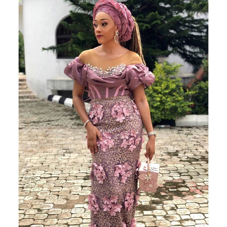 Nigerian Lace Aso Ebi African Weddings Wedding Guest Dress Custom Dress Plus Size Dress African Lace Styles Lace Gown Styles Lace Dress Styles