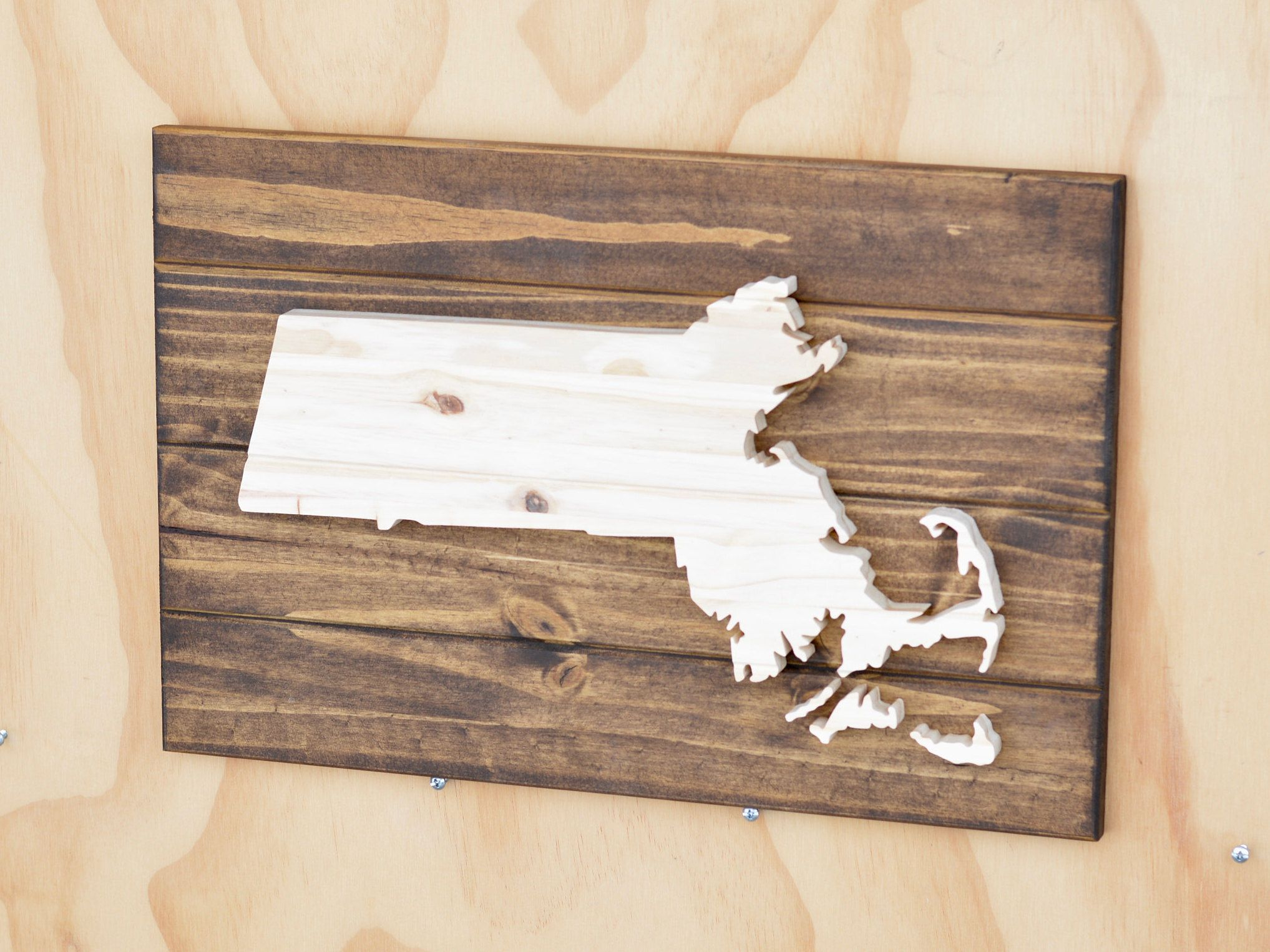 Massachusetts State Wood Plaque Cutout Wooden Cutouts Wood Plaques Wood Cutouts