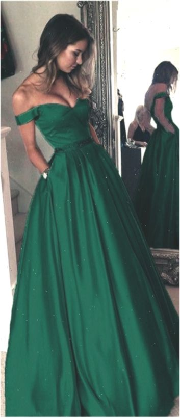 Long Emerald Prom Dresses 2019 Schnelle Lieferung ...
