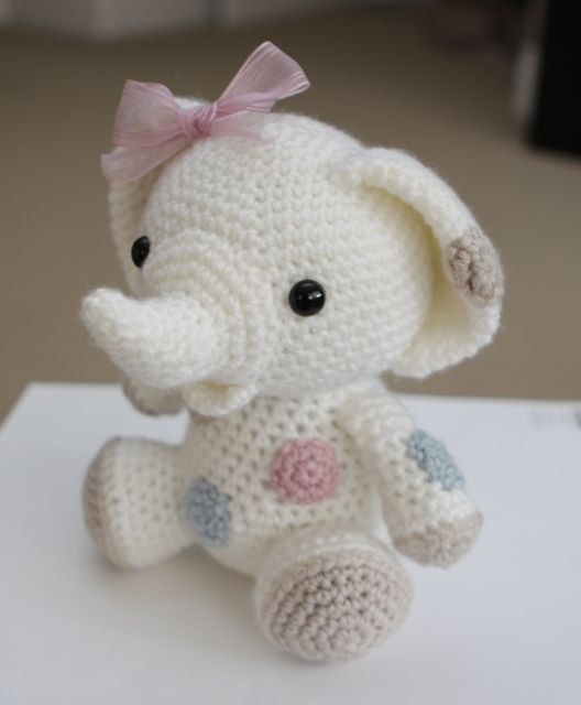 Amigurumi Crochet Pattern - Peanut the Elephant | amigurumis | Pinterest
