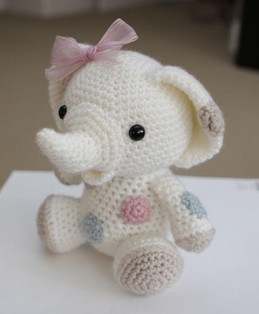 Amigurumi Crochet patrón cacahuete al elefante por littlemuggles ...
