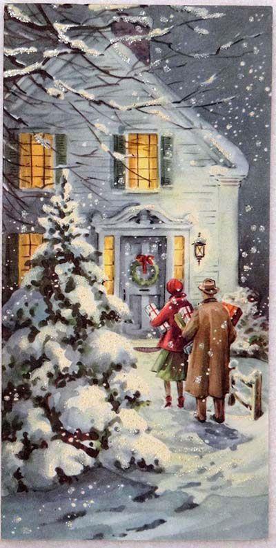 Antiche Immagini Di Natale.Antiche Cartoline Di Natale Le Chiccherie Cartoline Di Natale Natale Retro Natale