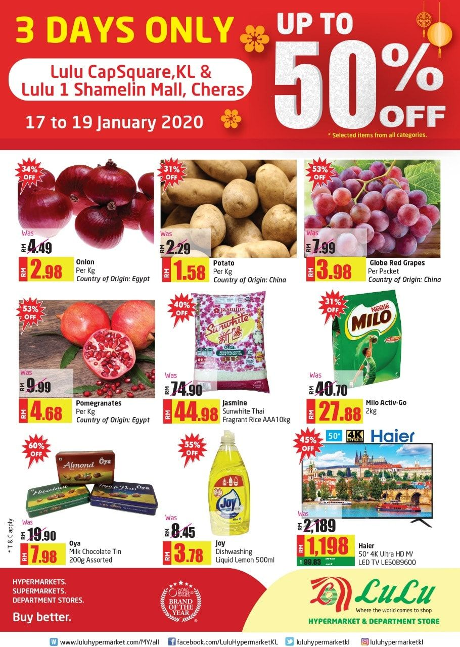 LuLu Hypermarket CNY Weekend Promotion (17 January 2020