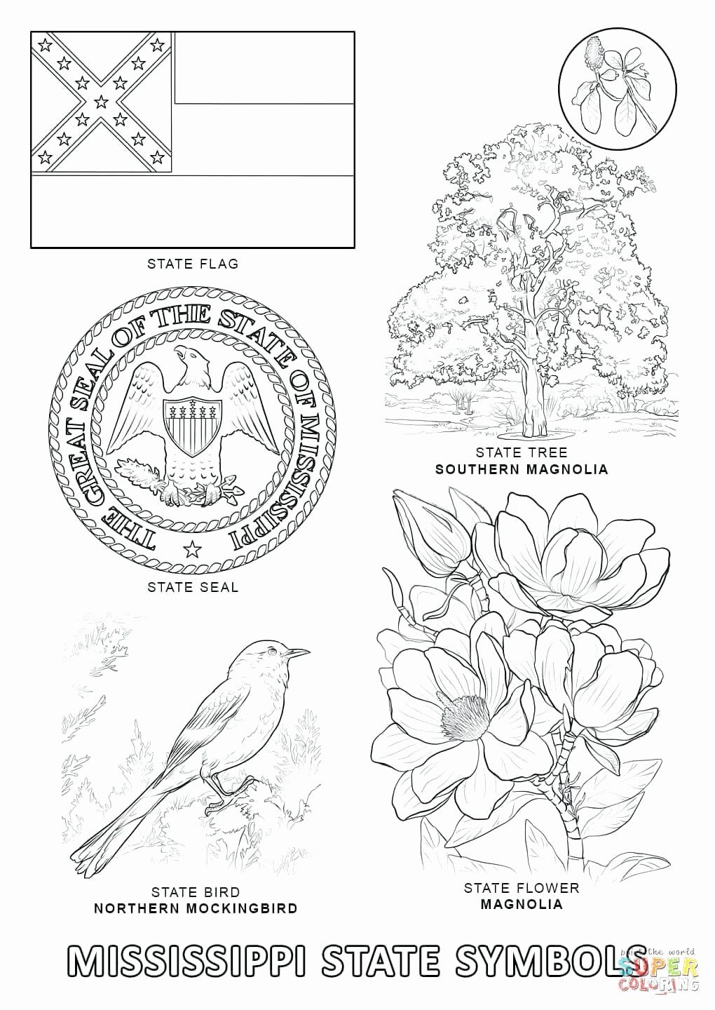 Indiana State Symbols Coloring Page State Symbols Coloring
