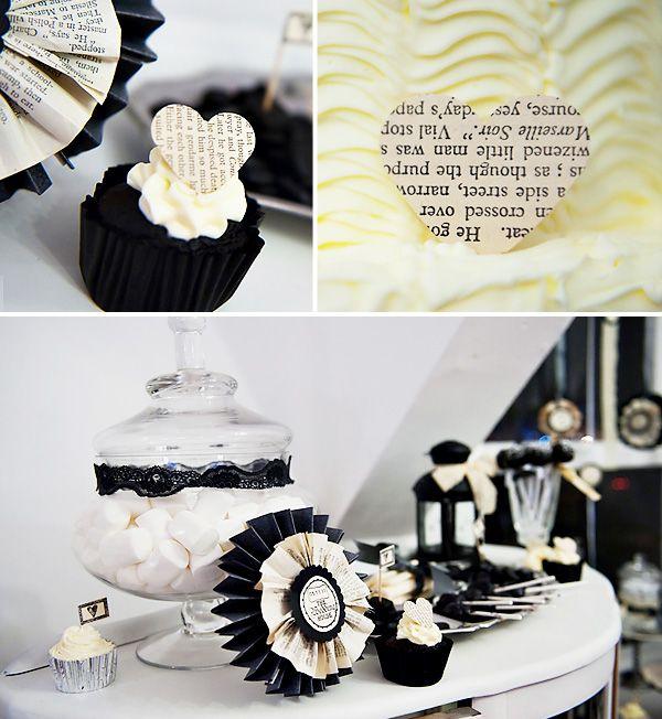 Gothic Wedding Decoration Ideas: Vintage-Gothic Wedding Dessert Table