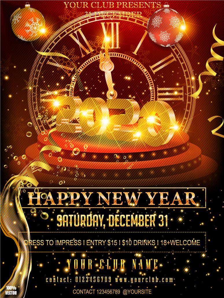 christmas flyer happy new Happy New 2020 Year