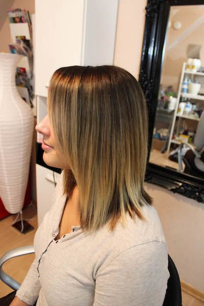 Ombre Ash Brown Fading Into Cool Blonde Hair