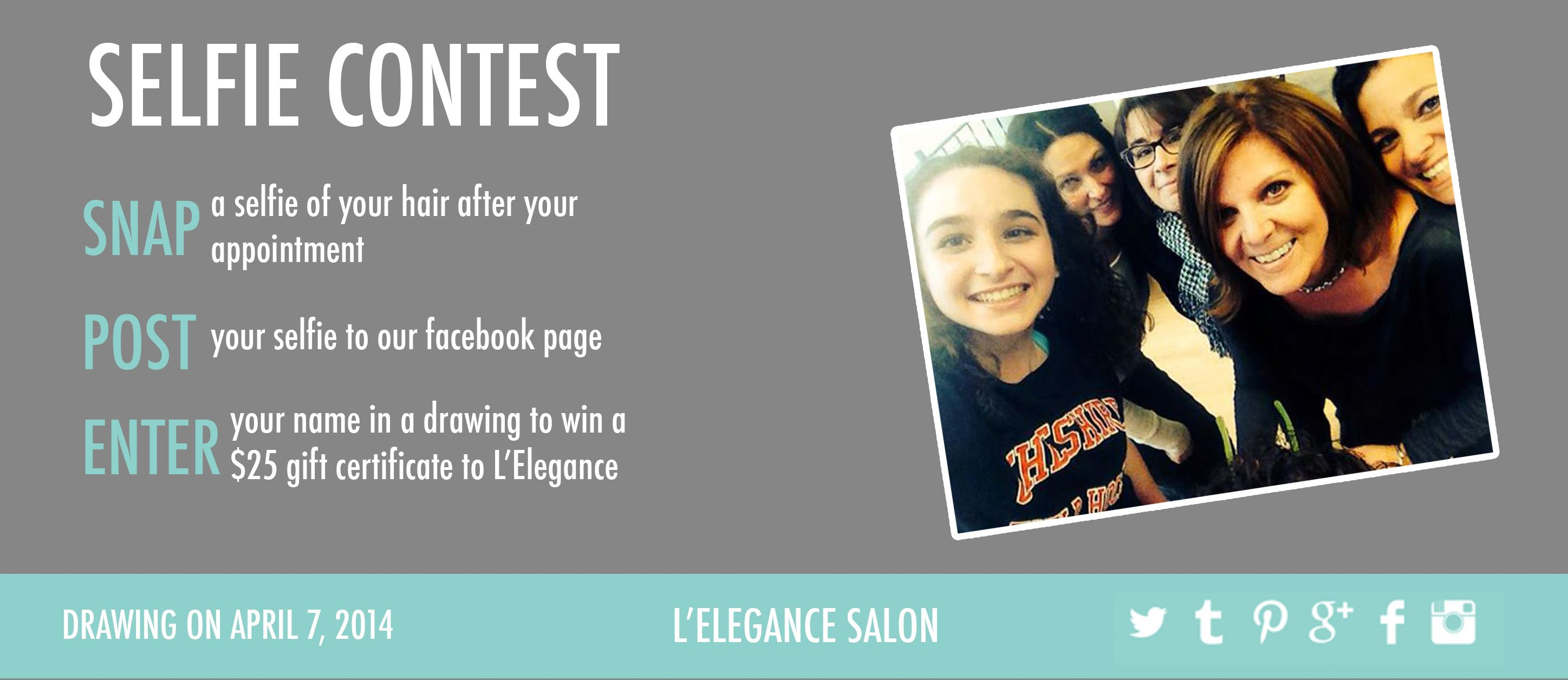selfie contest! #selfie #hair #salon  Hair salon marketing, Salon