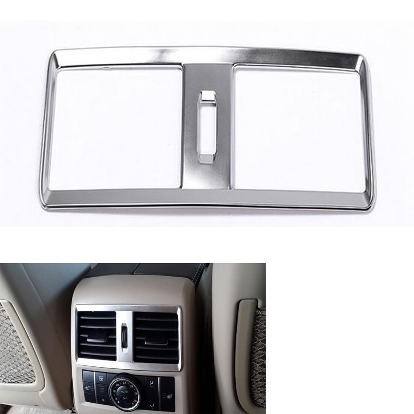 Yaquicka Auto Car Back Rear Seat Air Conditioner Vent Outlet Cover Frame Trim Sticker For Mercedes Benz Ml320 300 Gl 2017 2016 Affiliate