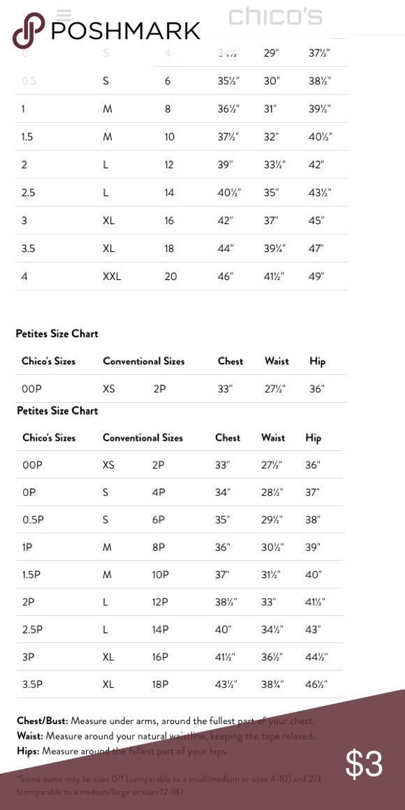 Chicos Size Chart : chicos, chart, 👚👖CHICO'S, CHART👗👕, Chart,, Chico's,, Chart