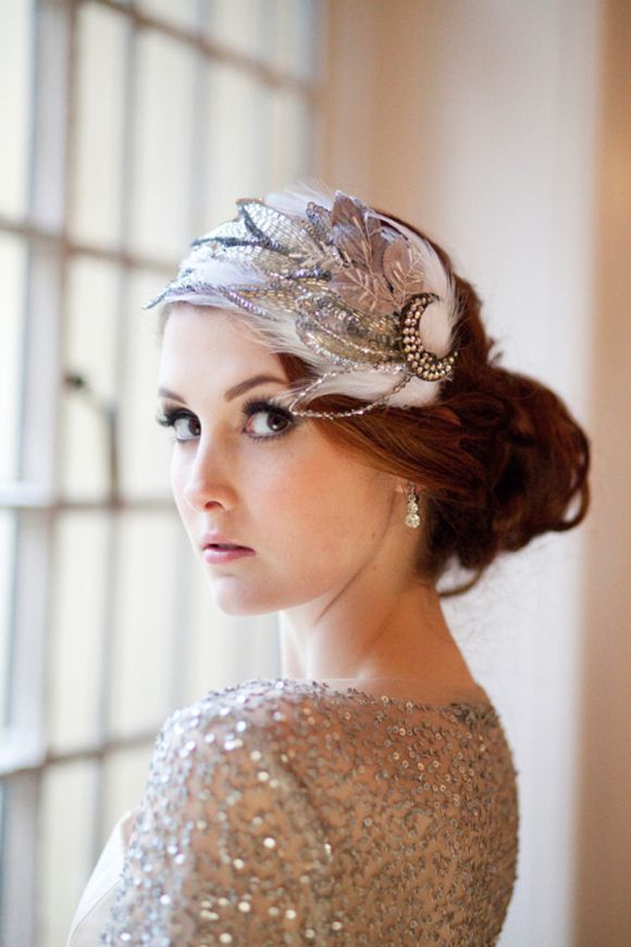 44 Chic Bridal Vintage Inspired Headpieces Happywedd Com Bridal Cap Hair Pieces Vintage Bridal