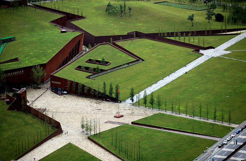 Wenchuan Earthquake Memorial Museum In China Green