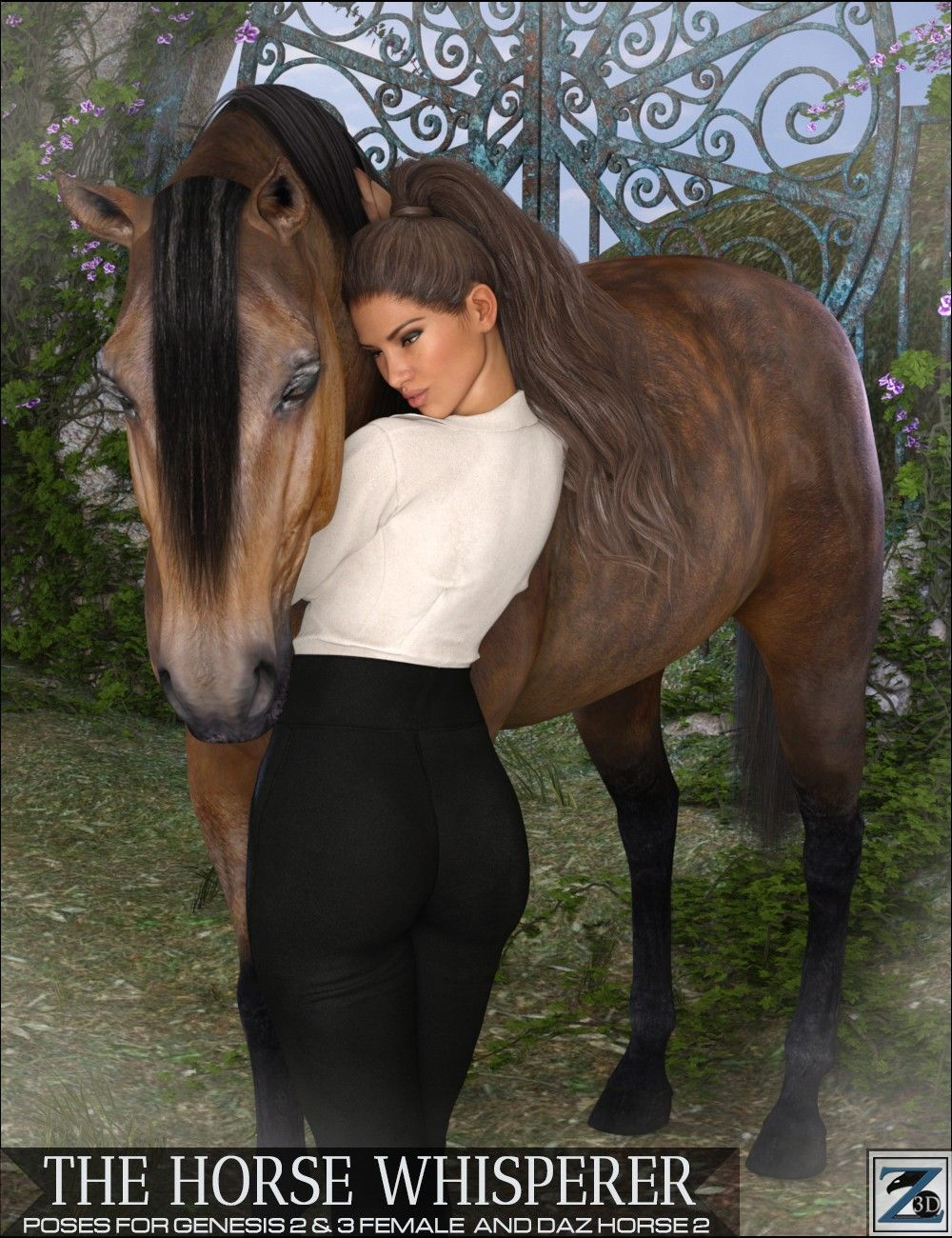 Z The Horse Whisperer - Poses for Genesis 2 & 3 Female and Daz Horse 2 | 3D Models and 3D Software by Daz 3D