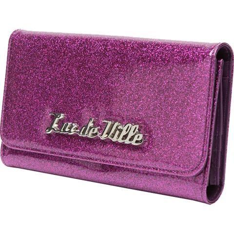 Lux De Ville Miss Lux Wallet Electric Purple Sparkle