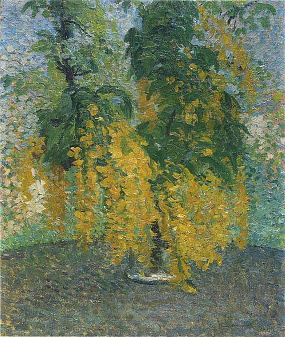Henri Martin (French, 1860-1943) - A Branch of Cytisus in a Vase