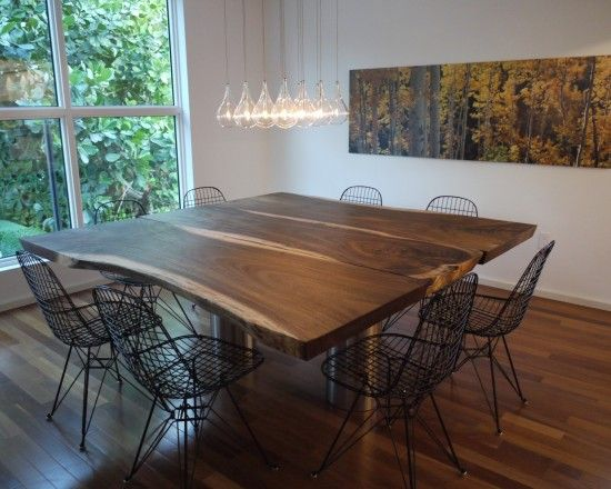 Raw Wood Slab Dining Table Design Pictures Remodel Decor And