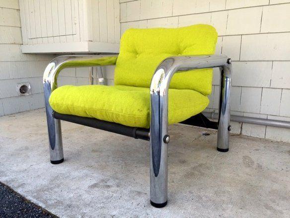 Pleasant Mid Century Byron Botker Chrome Sling Lounge Chair Chairs Evergreenethics Interior Chair Design Evergreenethicsorg