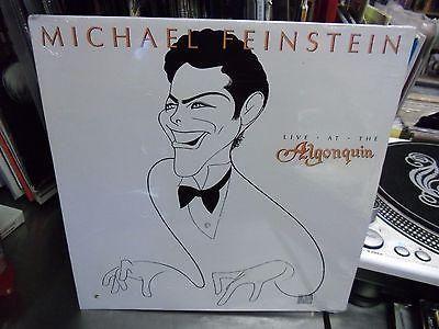 Michael Feinstein Live At The Algonquin LP 1987 Elektra Sealed [Hirschfeld Art]