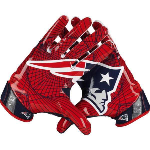 Men's New England Patriots Nike Vapor Jet Light Speed Gloves