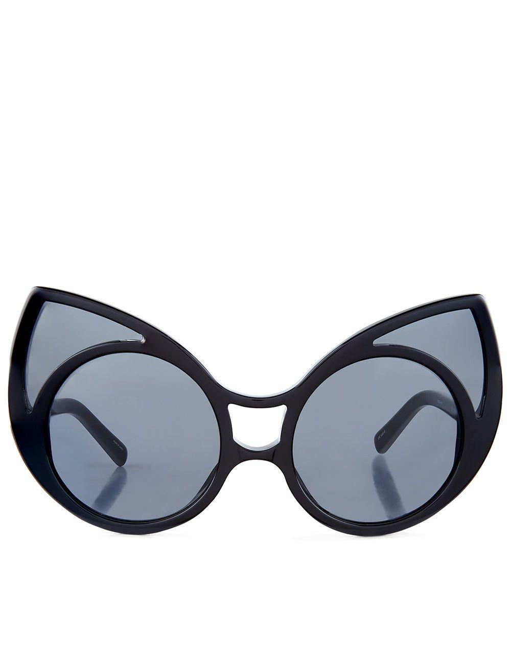 3aa50812f099 LINDA FARROW Black Pointed Cat Eye Sunglasses.  lindafarrow  sunglasses