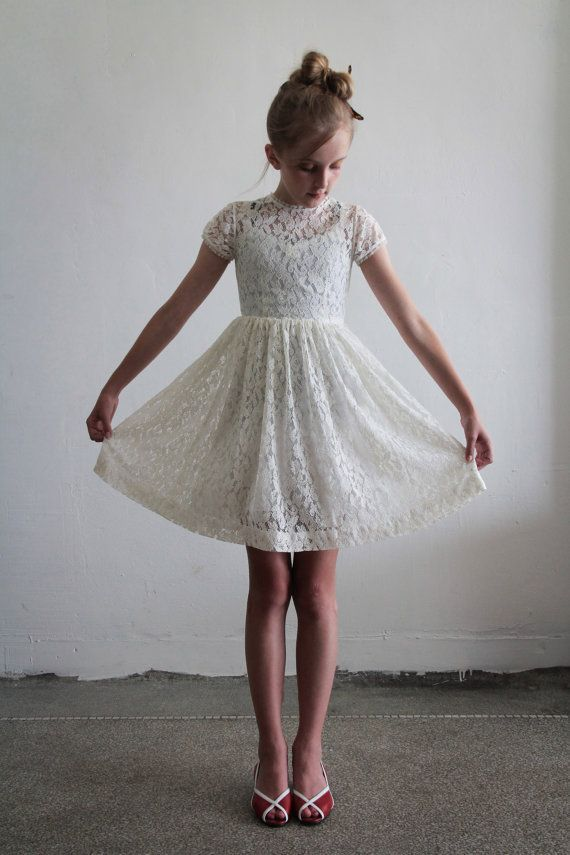 lace flower girl | Lace flower girl dress | The big day
