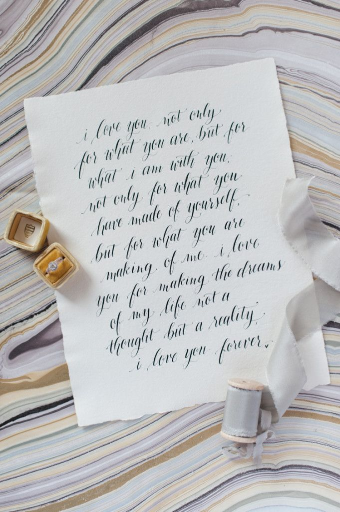 Destination Wedding Quotes For Invitations: Calligraphy Wedding Vows Handwritten Wedding Invitations