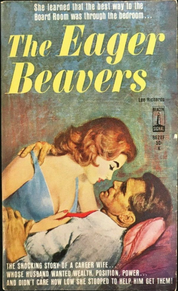 The Eager Beavers Pulp fiction, Beaver, Cover