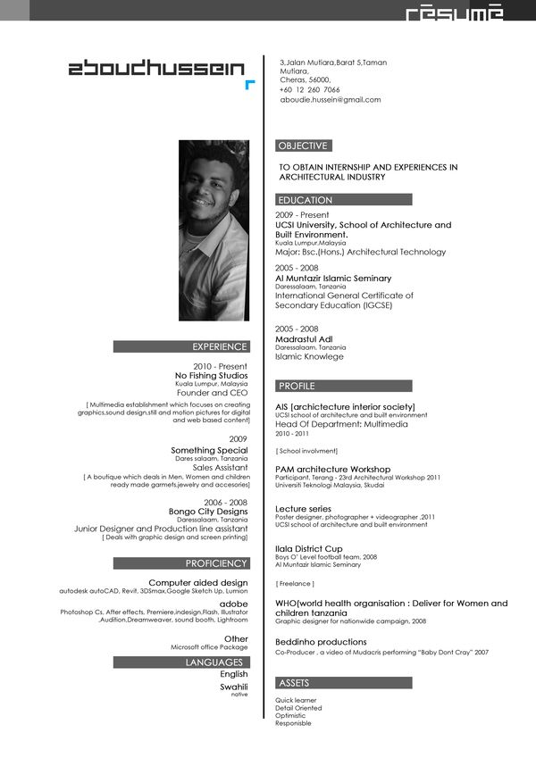 Resume+Portfolio as of Aug 012 by Aboud Hussein, via Behance - fishing resume