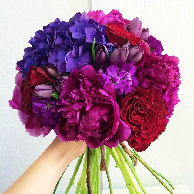Jewel Tone Wedding Flowers: Jewel Tones Bouquet By Posh Floral Designs