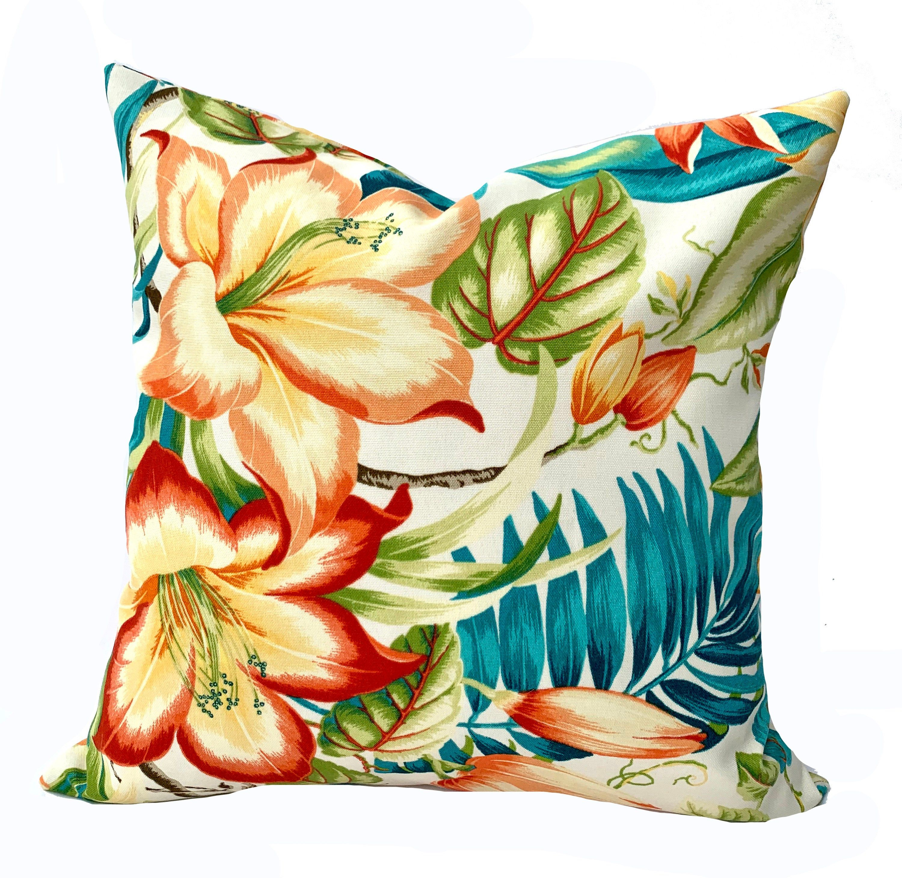 One Tommy Bahama Outdoor Pillow Cover Cushion Decorative Throw