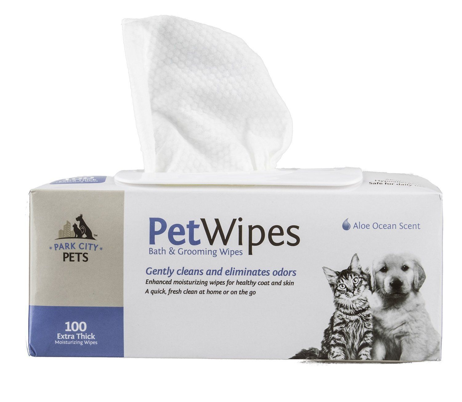 Park City Pets Dog And Cat Grooming Wipes Large Hypoallergenic