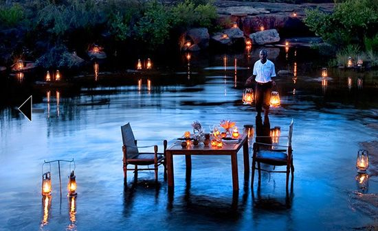 Is This Not The Most Romantic Dinner Setting You Have Ever