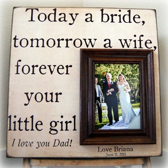 Father Of The Bride Gift Frame Dad Gifts From Daughter Etsy Father Of The Bride Wedding Thank You Gifts Custom Wedding Gifts
