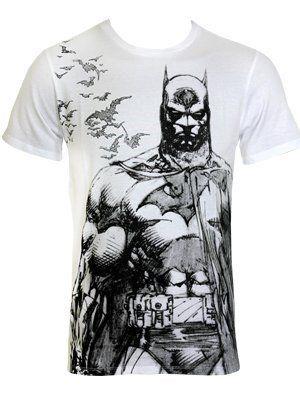 Batman Bat Fly T-Shirt weiß S